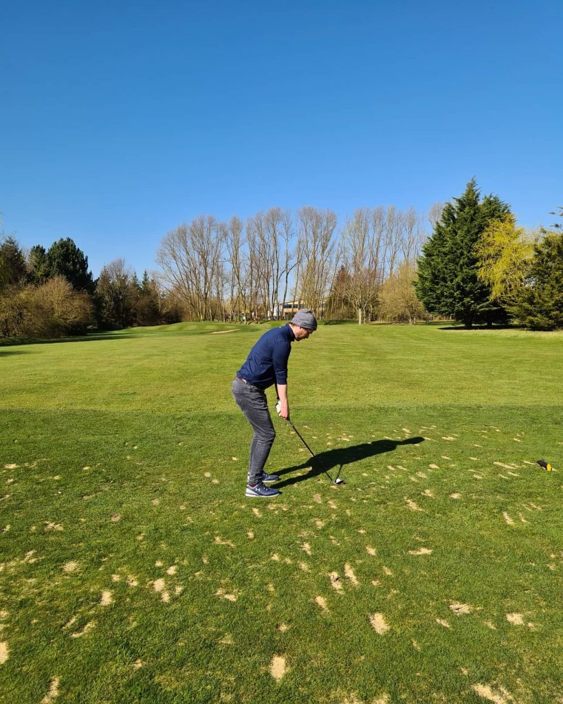 Back on the golf course in March 2021